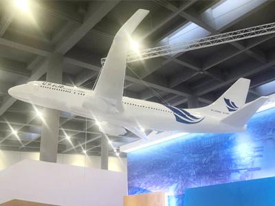 山东临沂球彩直播下载地址球彩台大头公司2020年3月玻璃钢球彩台大头作品 展厅飞机